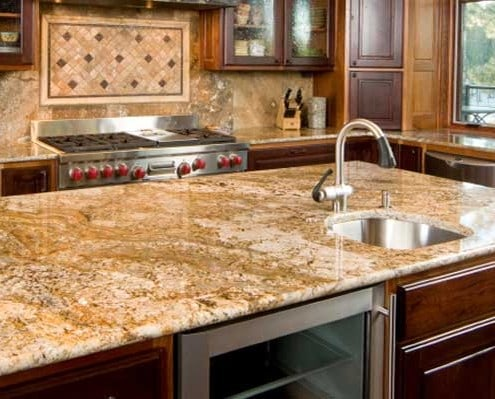 ... Gorgeous High End Granite Countertops   Backsplash   Island